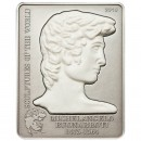 "Silver Coin MICHELANGELO'S DAVID 2010 ""Sculptures of the World"" Series"