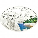 "Silver Coin EDWARD TEACH BLACKBEARD 2012 ""Famous Pirates"" Series"