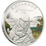 "Silver Coin SABRE TOOTH TIGER 2011 ""Prehistoric Wildlife"" Series"