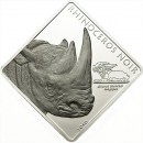 "Silver Coin RHINOCEROS NOIR 2010 ""Rare Wildlife"" Series - 2 oz"