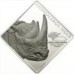 "Silver Coin RHINOCEROS NOIR 2010 ""Rare Wildlife"" Series - 2 oz"