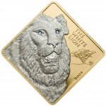 """Gold Coin WHITE LION 2009 """"Rare Wildlife"""" Series - 3 oz"""