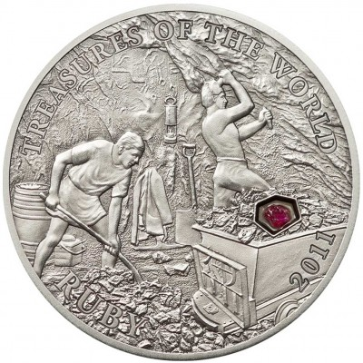 """Silver Coin RUBY 2011 """"Treasures of the World"""" Series"""