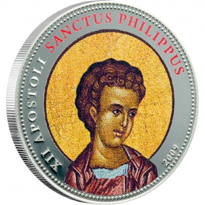 """Cu-Ni Silver-Plated Coin  ST. PHILIP 2009 """"Single Issues"""" Series"""
