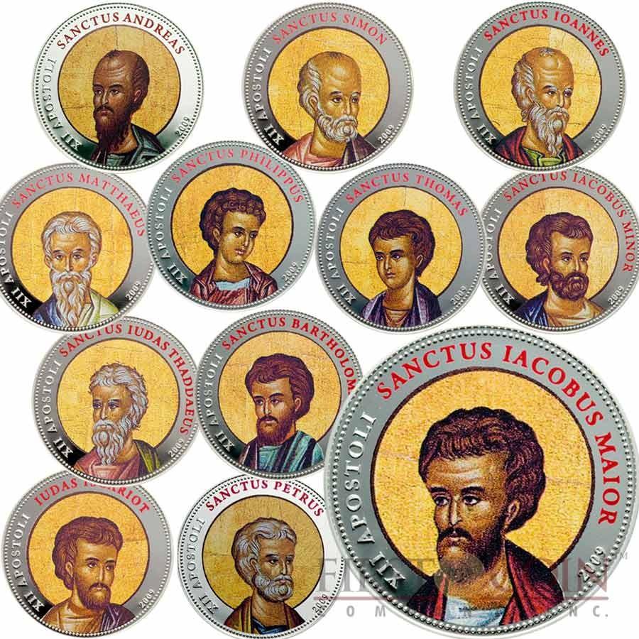 Palau Twelve Apostles 12 Twelve Coin Set 10 5oz Copper