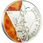 Silver Coin JEANNE D'ARC 2011 Greatest She Warriors Series