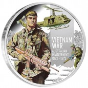 Silver Coin VIETNAM WAR 50TH ANNIVERSARY 2012 - 1 / 2 oz