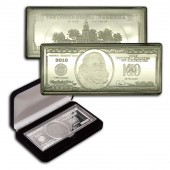 USA Silver $100 Bill Bar 2013 4 oz Proof-like
