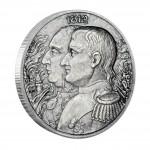 Серебряная монета НАПОЛЕОН - КУТУЗОВ 2012,Ниуе - 2 унции