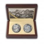 """""""Kutusow - Napoleon"""" Two Silver Coin Set 2012, Niue"""