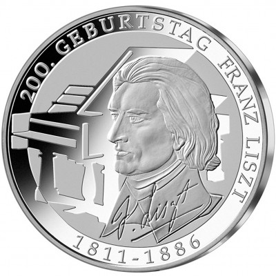 Silver Coin 200TH ANNIVERSARY OF FRANZ LISZT 2011