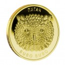 Gold Coin with Diamonds THE EAGLE OWL 2010, Belarus - 1/4 oz
