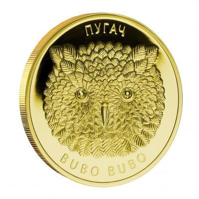 Золотая монета с бриллиантами ФИЛИН, Белоруссия - 1/4 унции