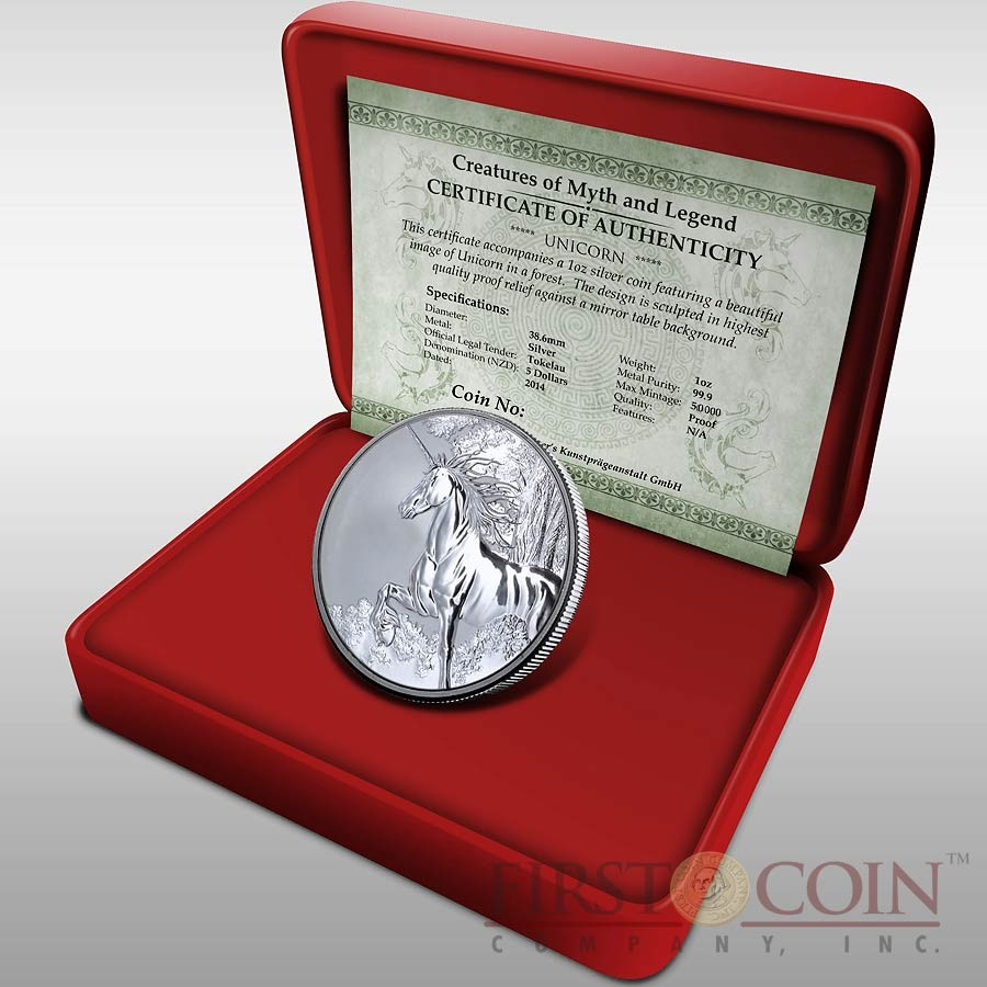 of Myth & Legend Silver Coin Year of the Horse Reverse Proof 1 oz 2014