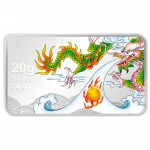 Silver Colored Coin DRAGON WITH FIRE 2012 Proof