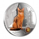 "Silver Coin FLUFFY CAT - SOMALI 2013 ""Dogs and Cats"" Series Fiji - 1 oz"