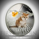 "Silver Coin WILD CAT - FELIS MARGARITA 2013 ""Dogs and Cats"" Series Fiji - 1 oz"