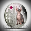 "Silver Coin SUPER CAT - SHHYNX 2013 ""Dogs and Cats"" Series Fiji - 1 oz"