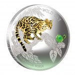 "Silver Coin WILD CAT - LEOPARDUS WIEDI 2013 ""Dogs and Cats"" Series Fiji - 1 oz"
