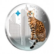 "Silver Coin SUPER CAT - BENGAL 2013 ""Dogs and Cats"" Series Fiji - 1 oz"