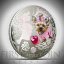 "Silver Coin MY LITTLE PUPPY - YORKSHIRE TERRIER 2013 ""Dogs and Cats"" Series Fiji - 1 oz"