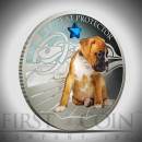 "Silver Coin MY GREAT PROTECTOR - BOXER 2013 ""Dogs and Cats"" Series Fiji - 1 oz"