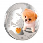 """Silver Coin MY LITTLE PUPPY - POMERANIAN 2013 """"Dogs and Cats"""" Series Fiji - 1 oz"""
