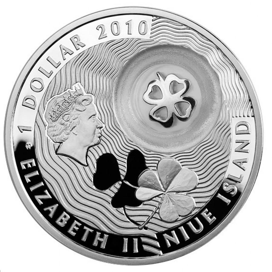 Серебряная монета на счастье где можно сдать монеты ссср