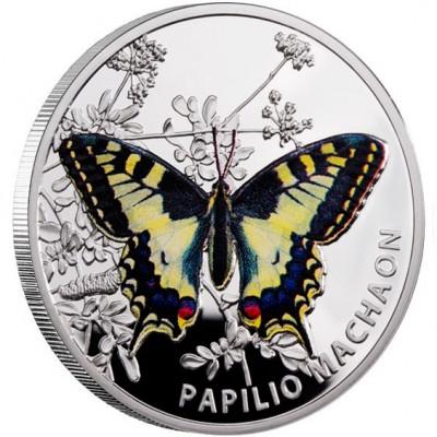 Серебряная монета МАХАОН 2011 серии «Бабочки»