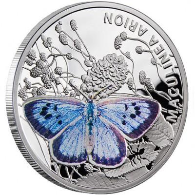Серебряная монета ГОЛУБЯНКА АРИНОН 2011 серии «Бабочки»