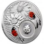 """Silver Coin LADYBIRD 2011 """"Lucky coins"""" Series"""
