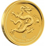 "Gold Bullion Coin YEAR OF THE DRAGON 2012 ""Lunar"" Series - 1kg"