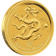 "Gold Bullion Coin YEAR OF THE DRAGON 2012 ""Lunar"" Series - 10 kg"