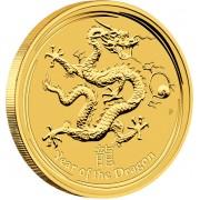 "Gold Bullion Coin YEAR OF THE DRAGON 2012 ""Lunar"" Series - 10 oz"