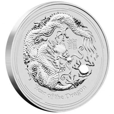 """Silver Bullion Coin YEAR OF THE DRAGON 2012 """"Lunar"""" Series - 10 kg"""