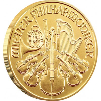 VIENNA PHILHARMONIC GOLD BULLION COIN 2012 - 1/10 OZ