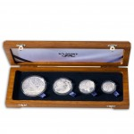 """Peace Park"" Series 2012 Four Silver Coin Set  2 oz, 1 oz, 1/2 oz, 1/4 oz"