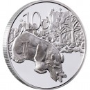 "Silver Coin GOLDEN RHINO 2012 ""Peace Park"" Series- 1/2 oz"