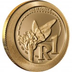 "Gold Coin AFRICAN MONARCH BUTTERFLY 2012 ""South African Pollinators"" Series"