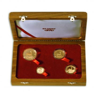 SOUTH AFRICAN KRUGERRAND Four Gold Coin Set 2012 - 1 oz, 1/2 oz, 1/4 oz, 1/10 oz