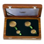 AFRICAN PAINTED WOLVES Four Gold Coin Set 2012 - 1 oz, 1/2 oz, 1/4 oz, 1/10 oz