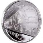 "Silver Coin GAUTRAIN - R2 CROWN 2012 ""Trains of South Africa"" Series"