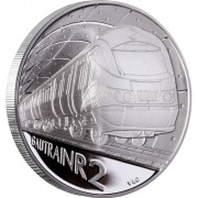 "Silver Coin GAUTRAIN - R2 CROWN 2012 ""Trains of South Africa"" Series"