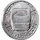 "Silver Coin GAUTRAIN - 2 1/2c TICKEY 2012 ""Trains of South Africa"" Series"