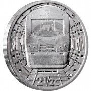"""Silver Coin GAUTRAIN - 2 1/2c TICKEY 2012 """"Trains of South Africa"""" Series"""