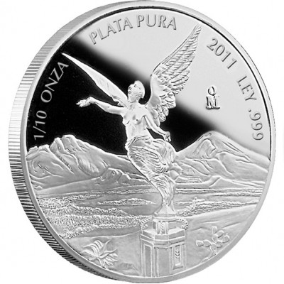 Mexican Libertad Silver Proof Coin 2012 - 1/10 oz