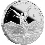 Mexican Libertad Silver Proof Coin 2012 - 1/2 oz