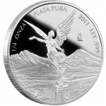 Mexican Libertad Silver Proof Coin 2012 - 1/4 oz