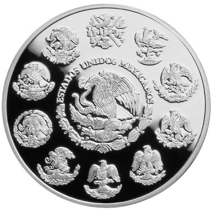 Silver Coin Mexican Aztec Calendar 2012 Proof Like Mexico