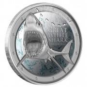 Silver Coin GREAT WHITE SHARK 2012, Niue - 1oz